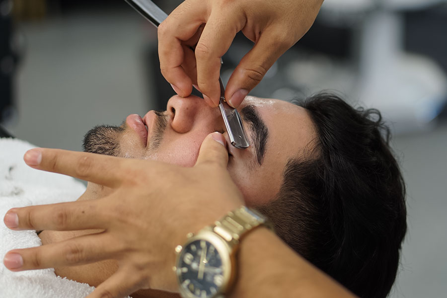 Eyebrow and Beard detailing at AOF Hair Studio - West Covina